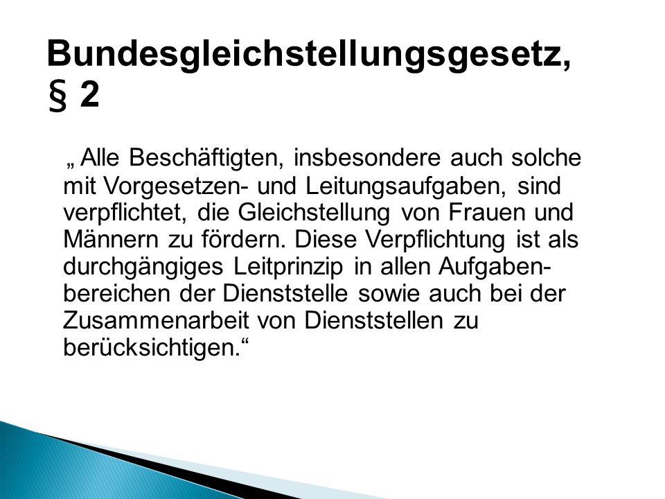 Bundesgleichstellungsgesetz, § 2