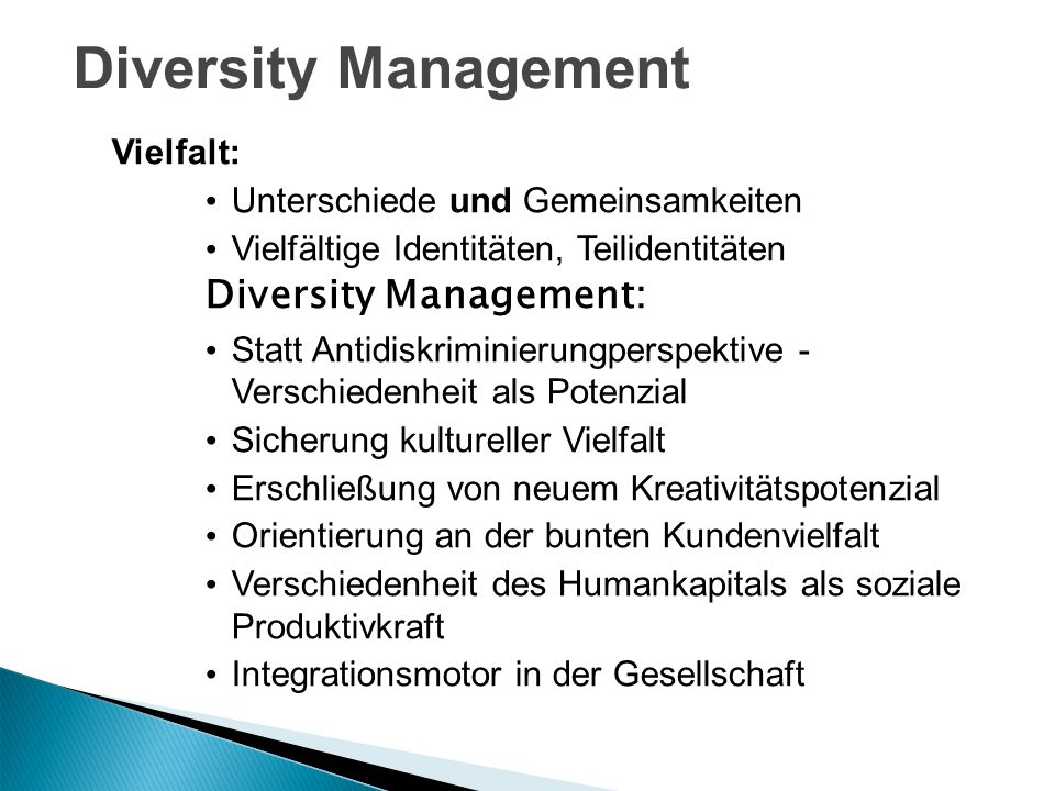 Diversity Management Diversity Management: Vielfalt: