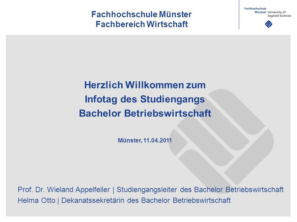 Fachhochschule Münster Fachbereich Wirtschaft