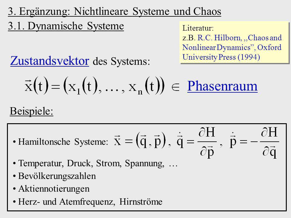 Phasenraum Zustandsvektor des Systems: