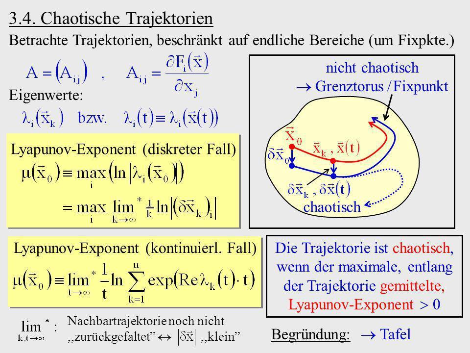 3.4. Chaotische Trajektorien