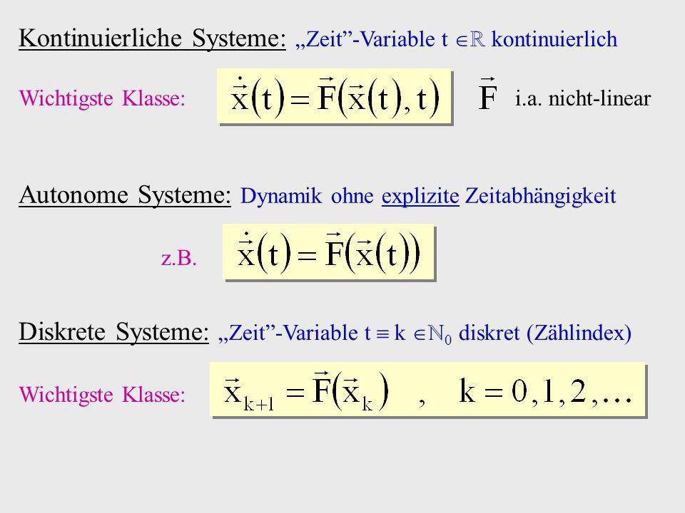 """Kontinuierliche Systeme: """"Zeit -Variable t ℝ kontinuierlich"""
