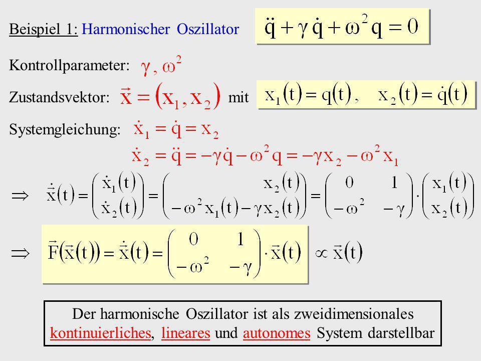 Beispiel 1: Harmonischer Oszillator