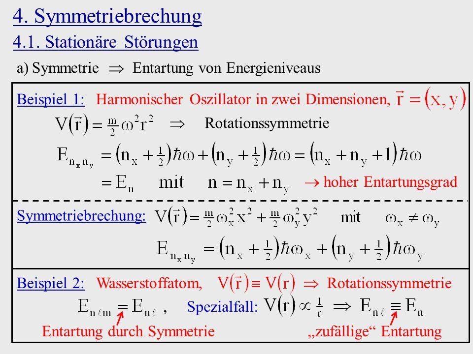 4. Symmetriebrechung 4.1. Stationäre Störungen
