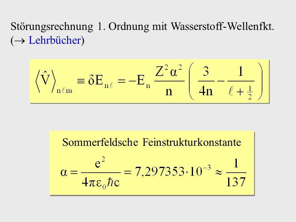 Sommerfeldsche Feinstrukturkonstante