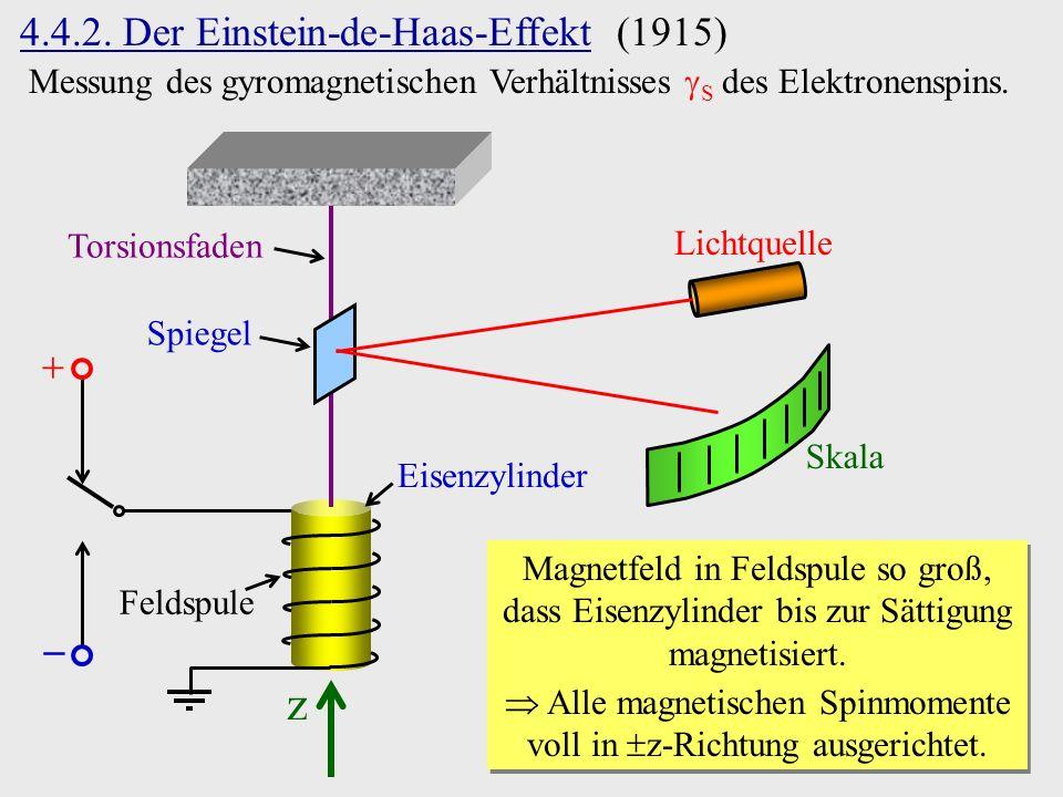  Alle magnetischen Spinmomente voll in z-Richtung ausgerichtet.