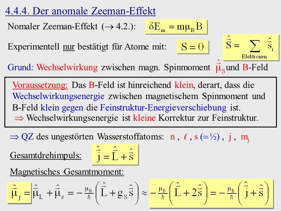 4.4.4. Der anomale Zeeman-Effekt