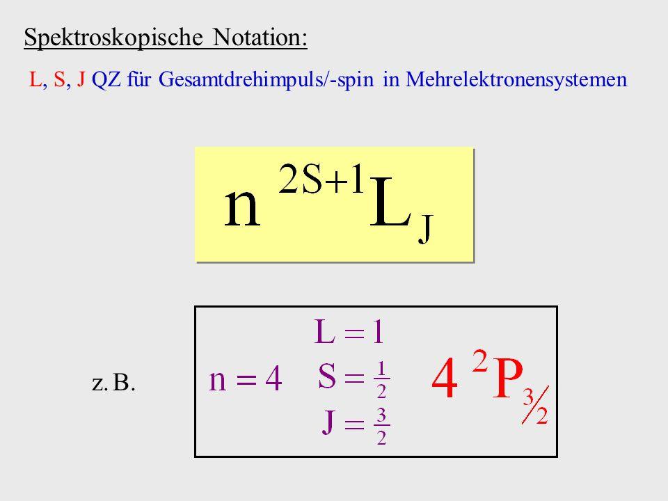 Spektroskopische Notation: