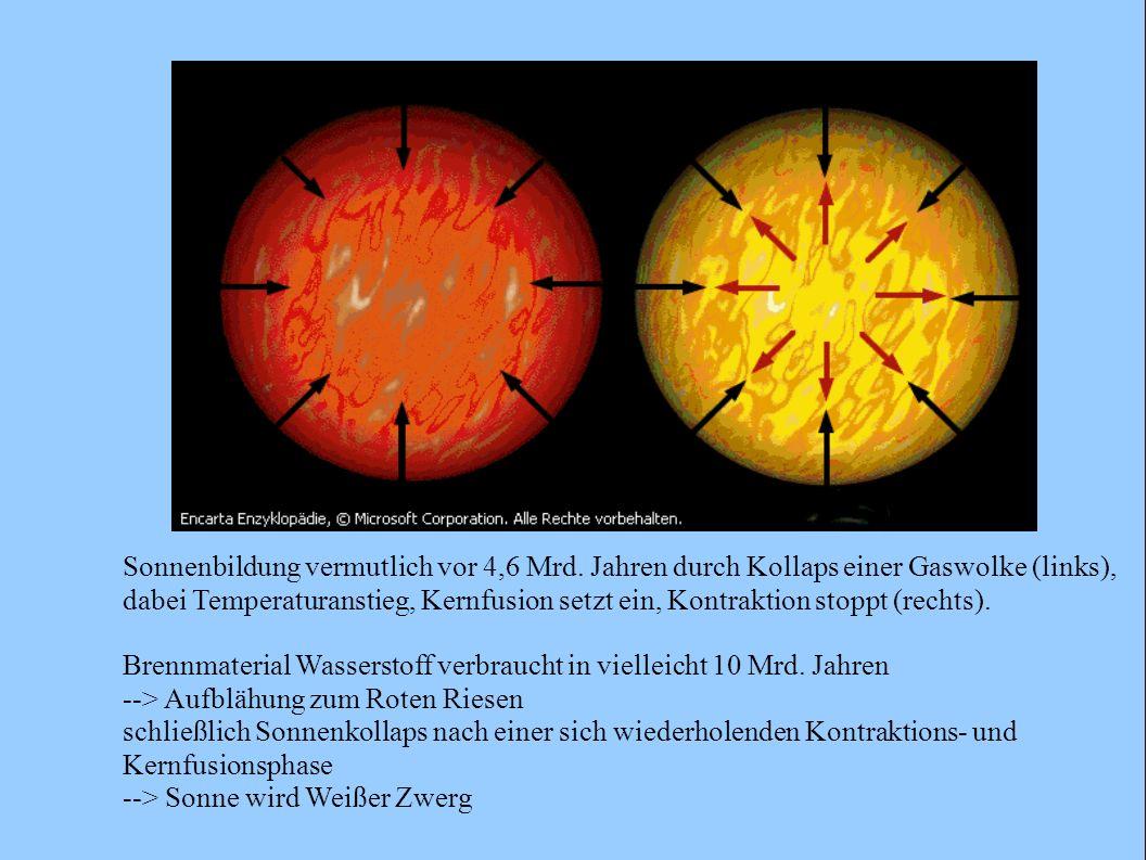 Sonnenbildung vermutlich vor 4,6 Mrd