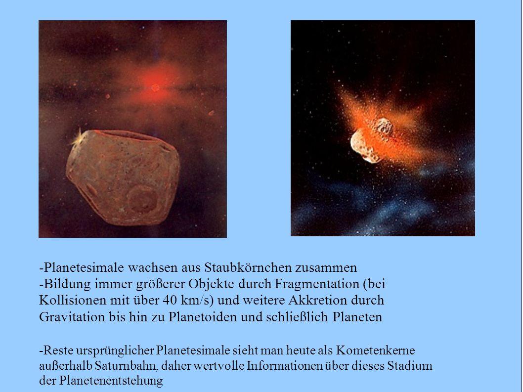 -Planetesimale wachsen aus Staubkörnchen zusammen