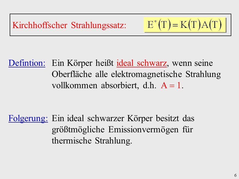 Kirchhoffscher Strahlungssatz: