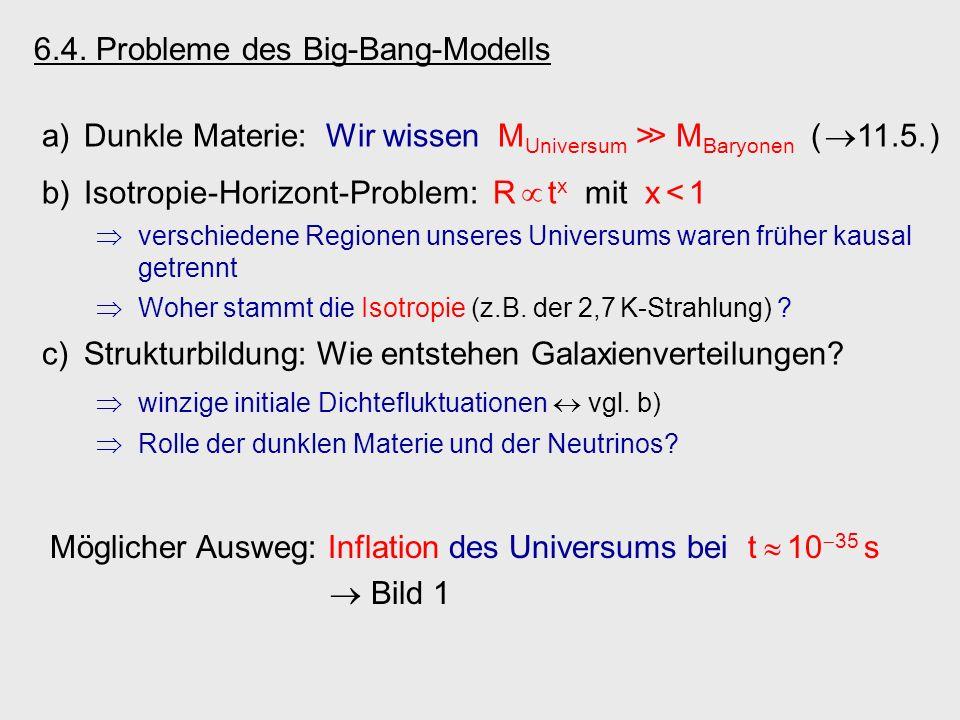 6.4. Probleme des Big-Bang-Modells
