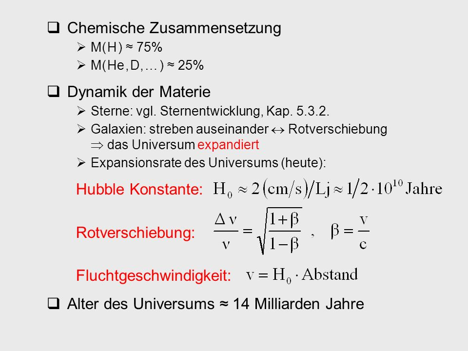 Chemische Zusammensetzung