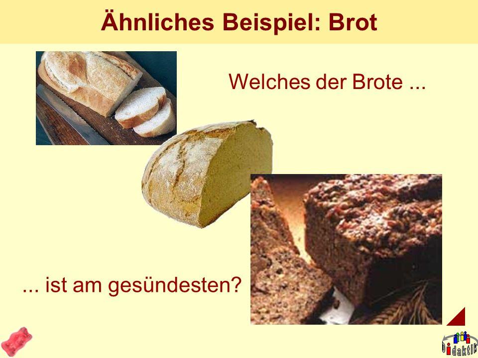 Ähnliches Beispiel: Brot