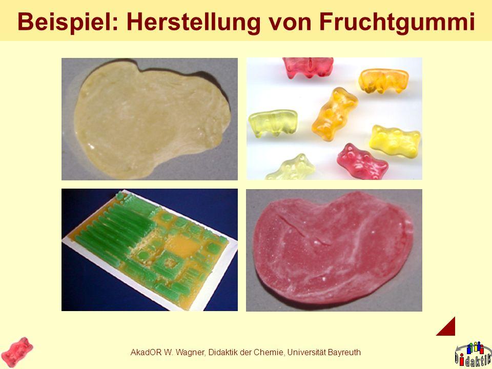 Beispiel: Herstellung von Fruchtgummi