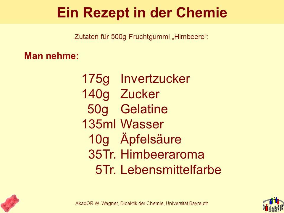 Ein Rezept in der Chemie