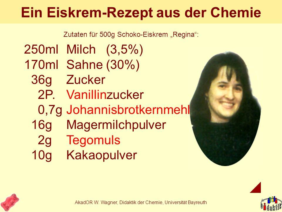 Ein Eiskrem-Rezept aus der Chemie