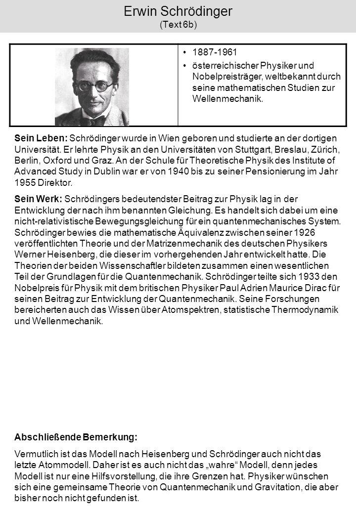 Erwin Schrödinger (Text 6b)