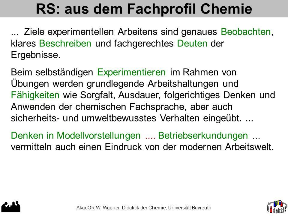 RS: aus dem Fachprofil Chemie
