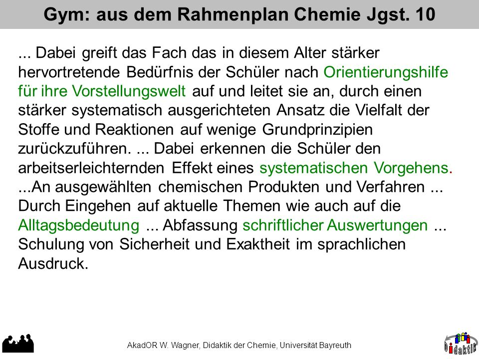 Gym: aus dem Rahmenplan Chemie Jgst. 10