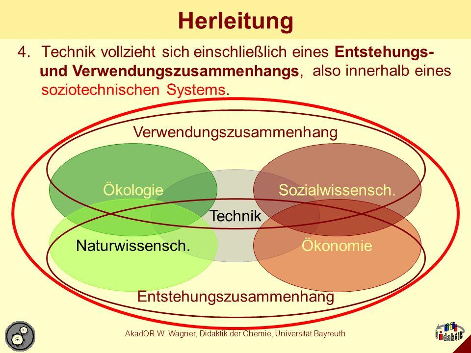 Herleitung also innerhalb eines soziotechnischen Systems.