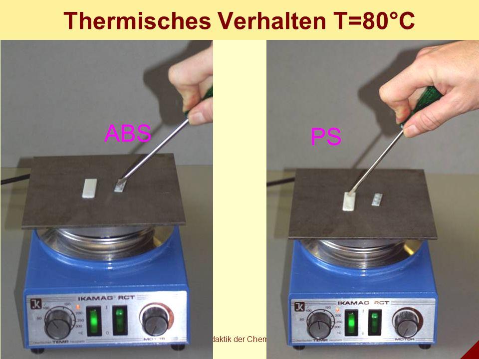 Thermisches Verhalten T=80°C