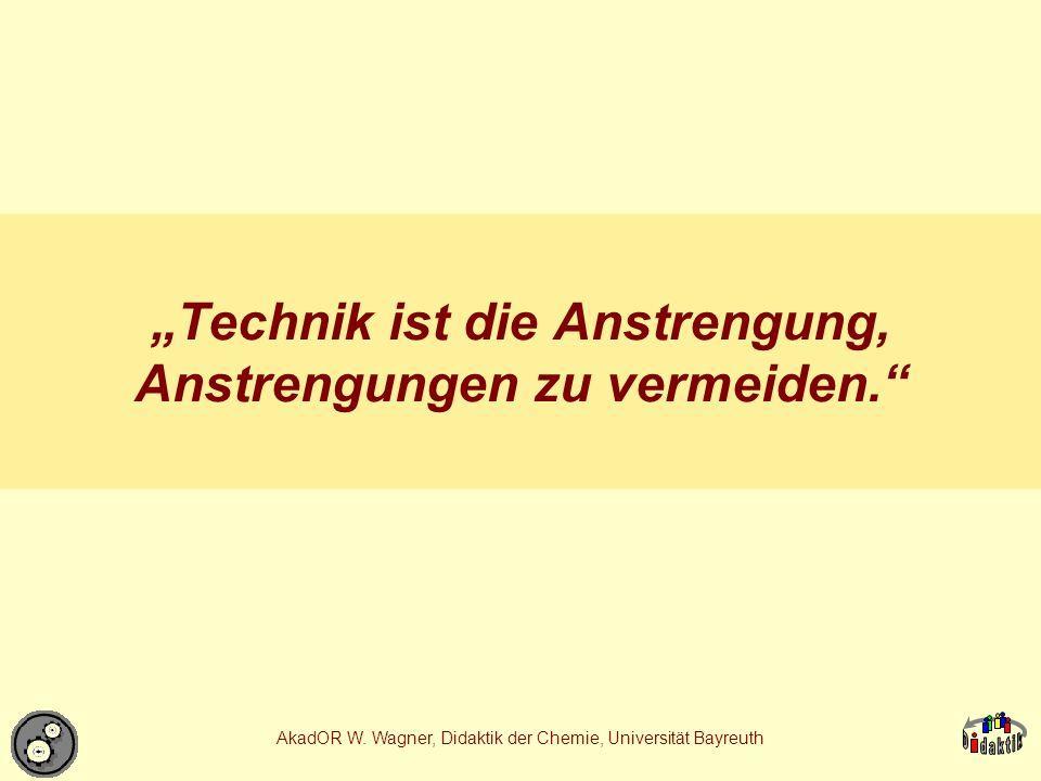 """""""Technik ist die Anstrengung, Anstrengungen zu vermeiden."""