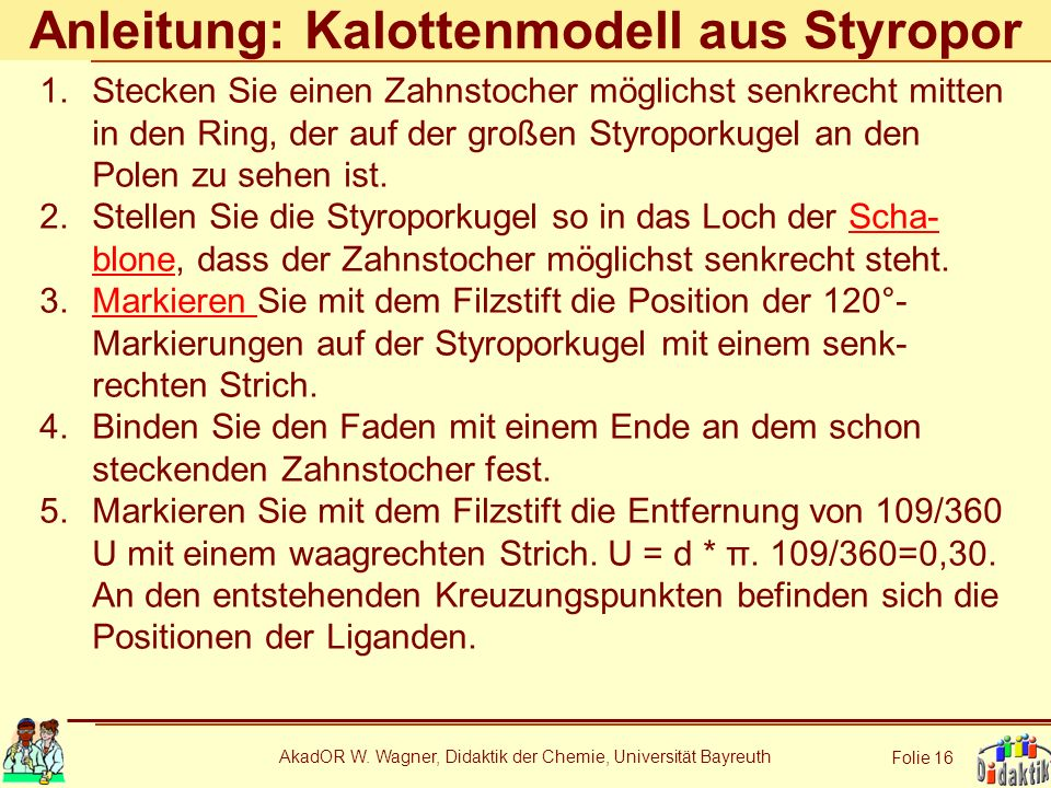 Anleitung: Kalottenmodell aus Styropor