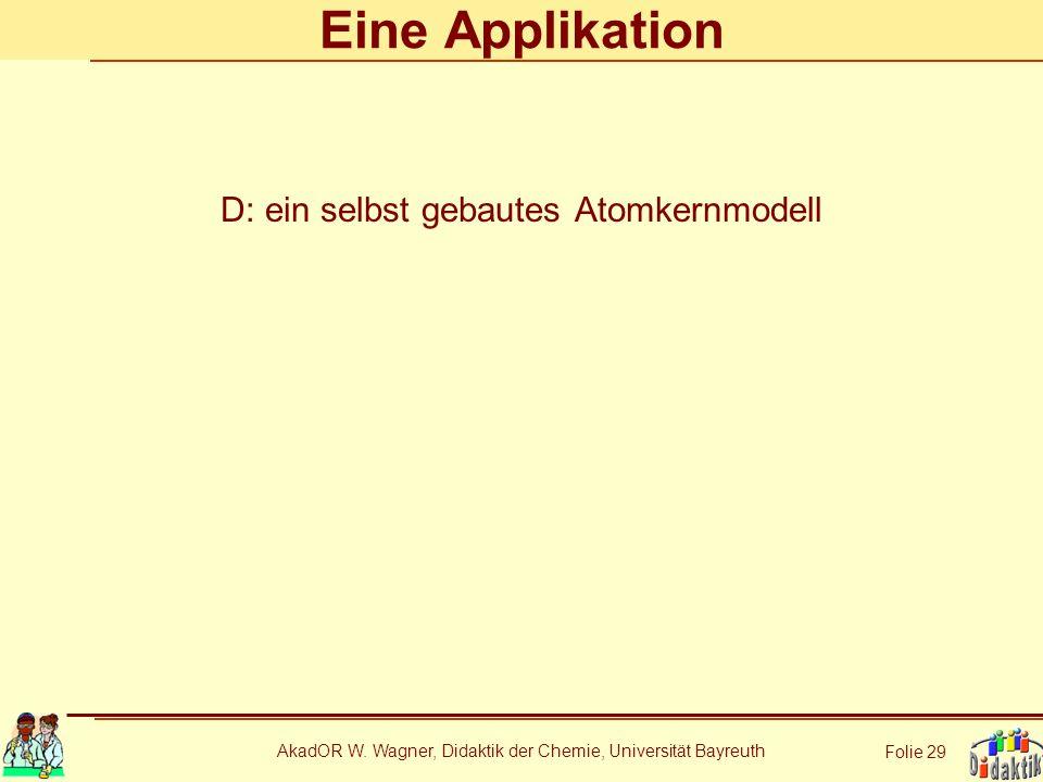 Eine Applikation D: ein selbst gebautes Atomkernmodell