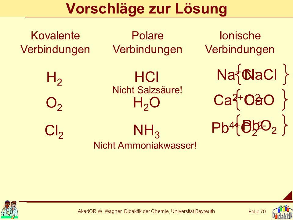 Vorschläge zur Lösung Na+Cl- NaCl H2 HCl Ca2+O2- CaO O2 H2O PbO2