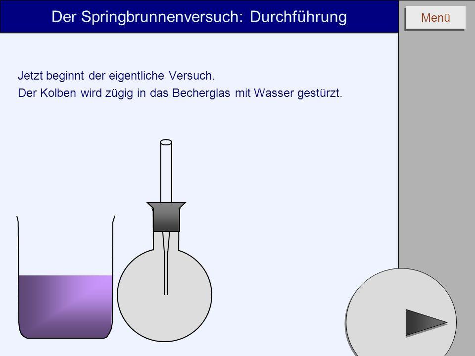 Der Springbrunnenversuch: Durchführung