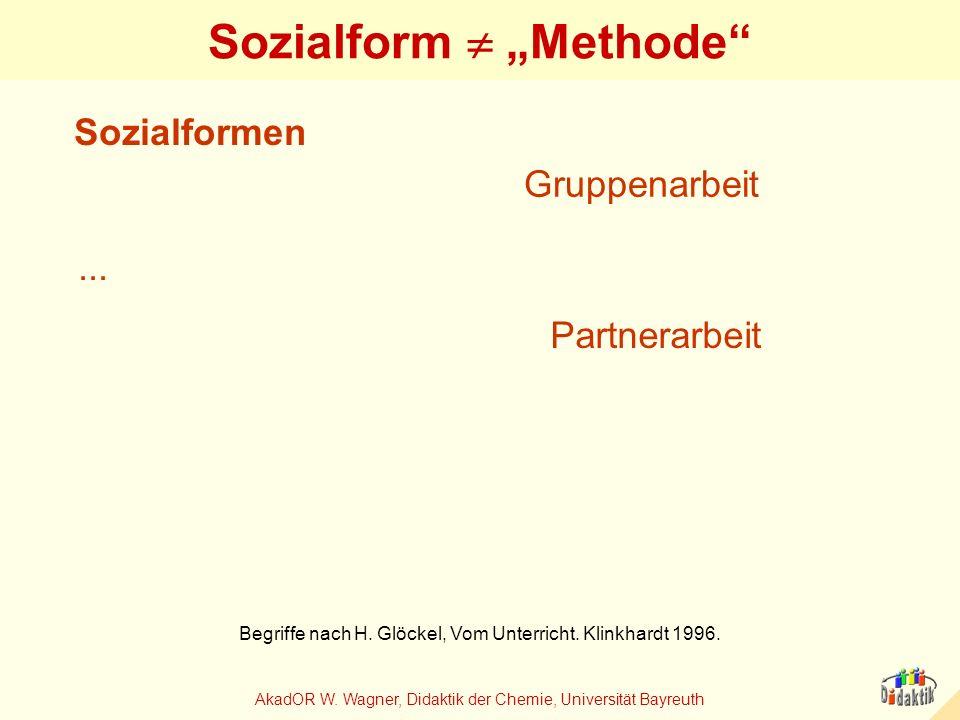 """Sozialform  """"Methode"""