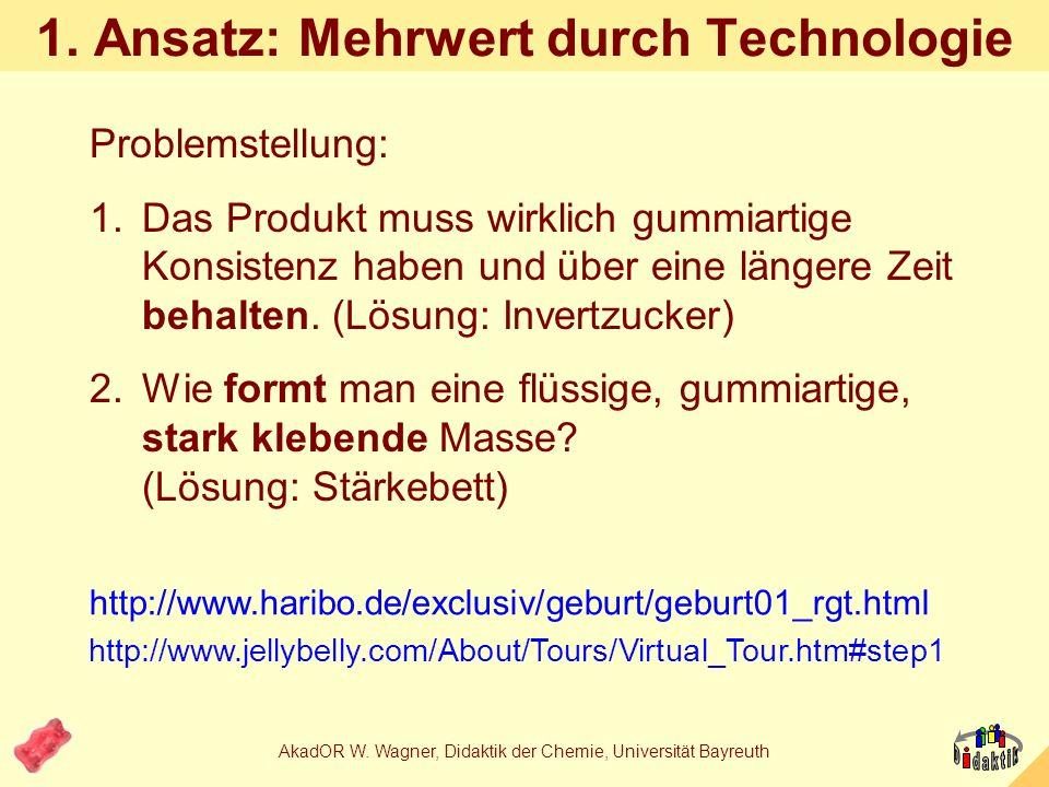 1. Ansatz: Mehrwert durch Technologie