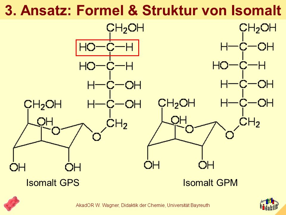 3. Ansatz: Formel & Struktur von Isomalt