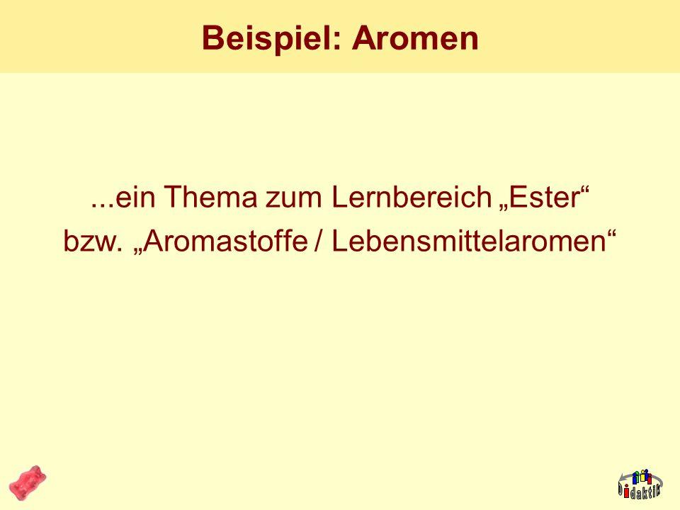 """Beispiel: Aromen ...ein Thema zum Lernbereich """"Ester"""