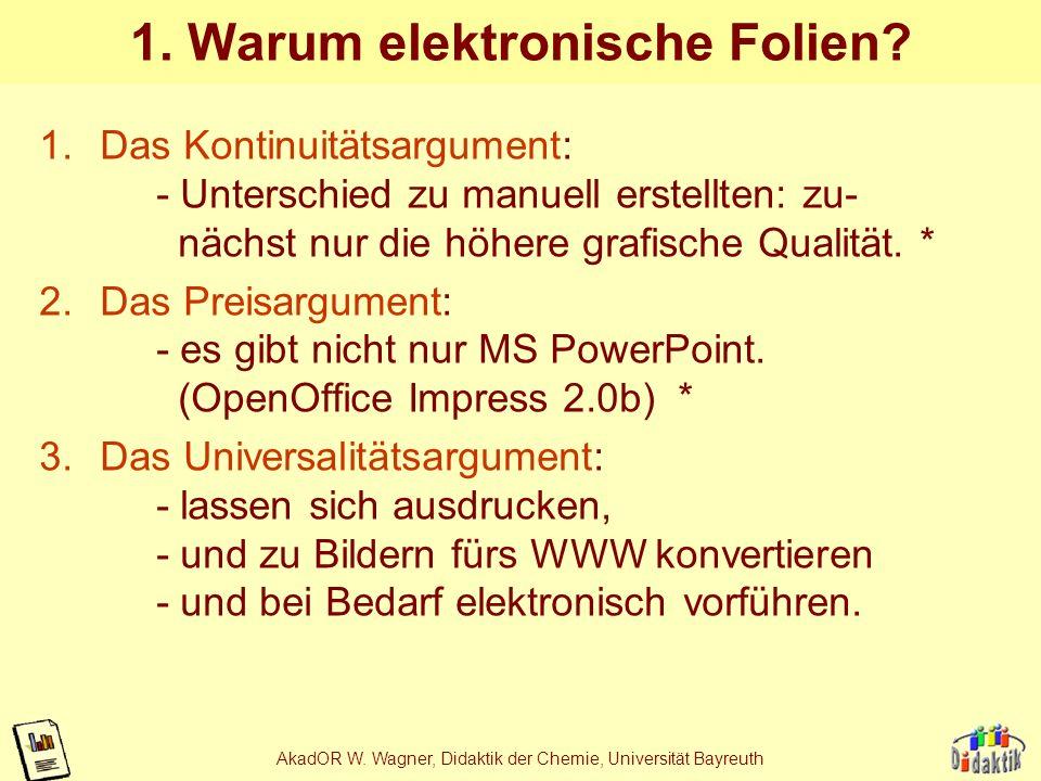 1. Warum elektronische Folien