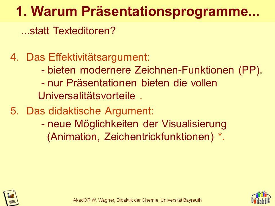 1. Warum Präsentationsprogramme...
