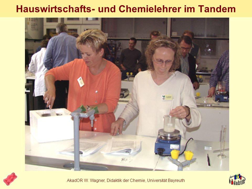Hauswirtschafts- und Chemielehrer im Tandem