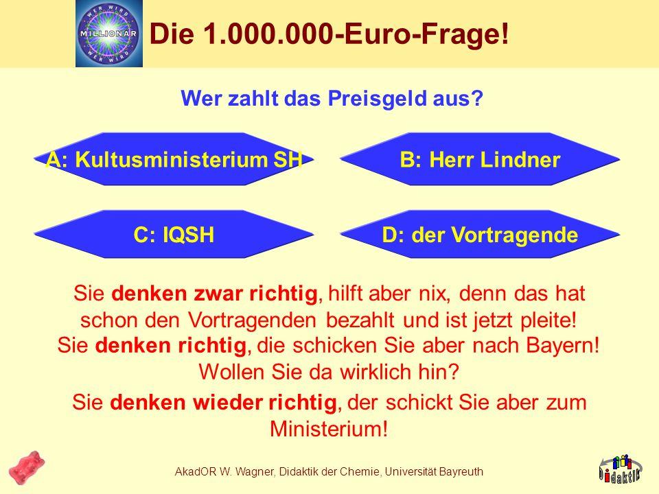 Wer zahlt das Preisgeld aus A: Kultusministerium SH