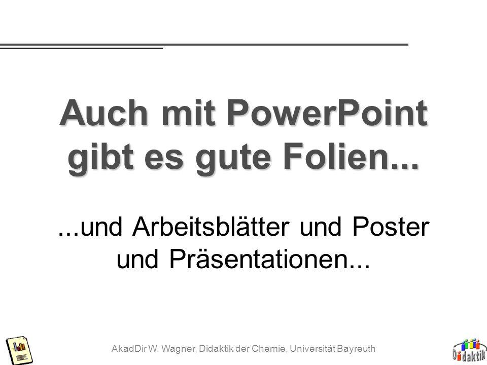 Auch mit PowerPoint gibt es gute Folien...