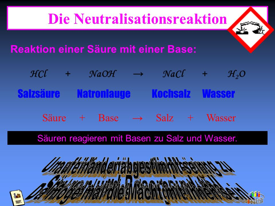 Die Neutralisationsreaktion