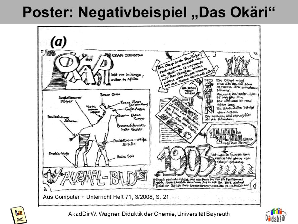 "Poster: Negativbeispiel ""Das Okäri"