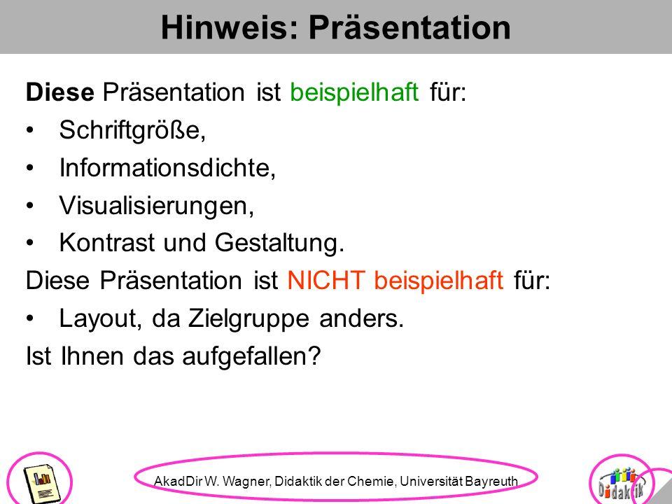 Hinweis: Präsentation