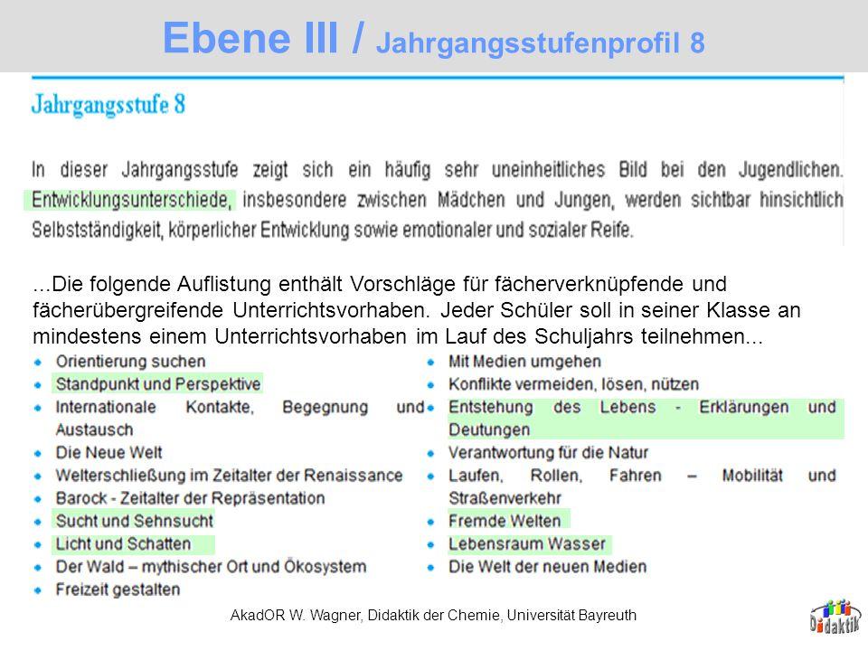 Ebene III / Jahrgangsstufenprofil 8