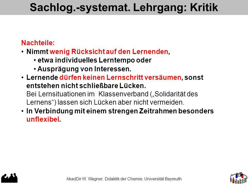 Sachlog.-systemat. Lehrgang: Kritik