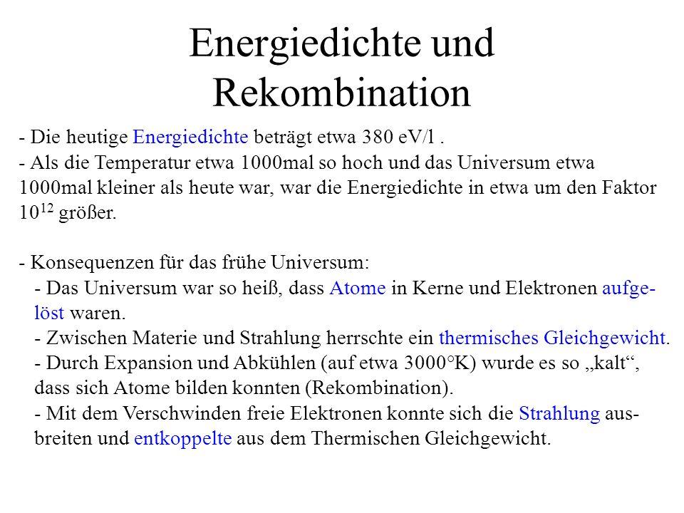 Energiedichte und Rekombination