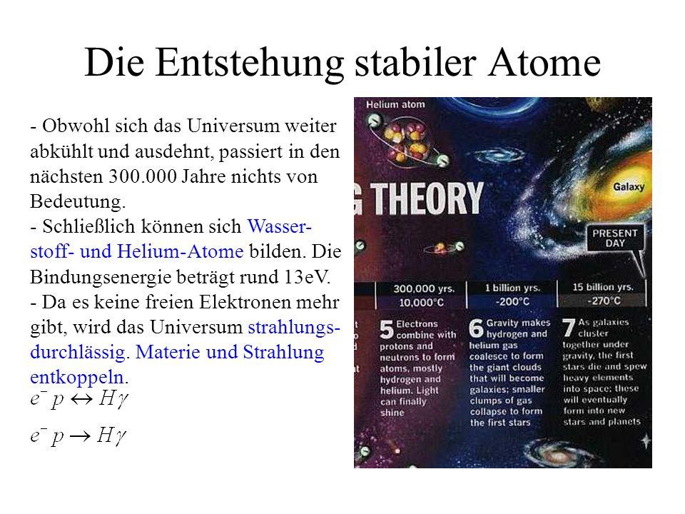 Die Entstehung stabiler Atome