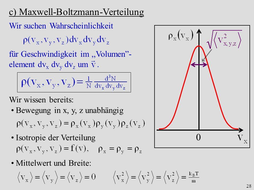 c) Maxwell-Boltzmann-Verteilung
