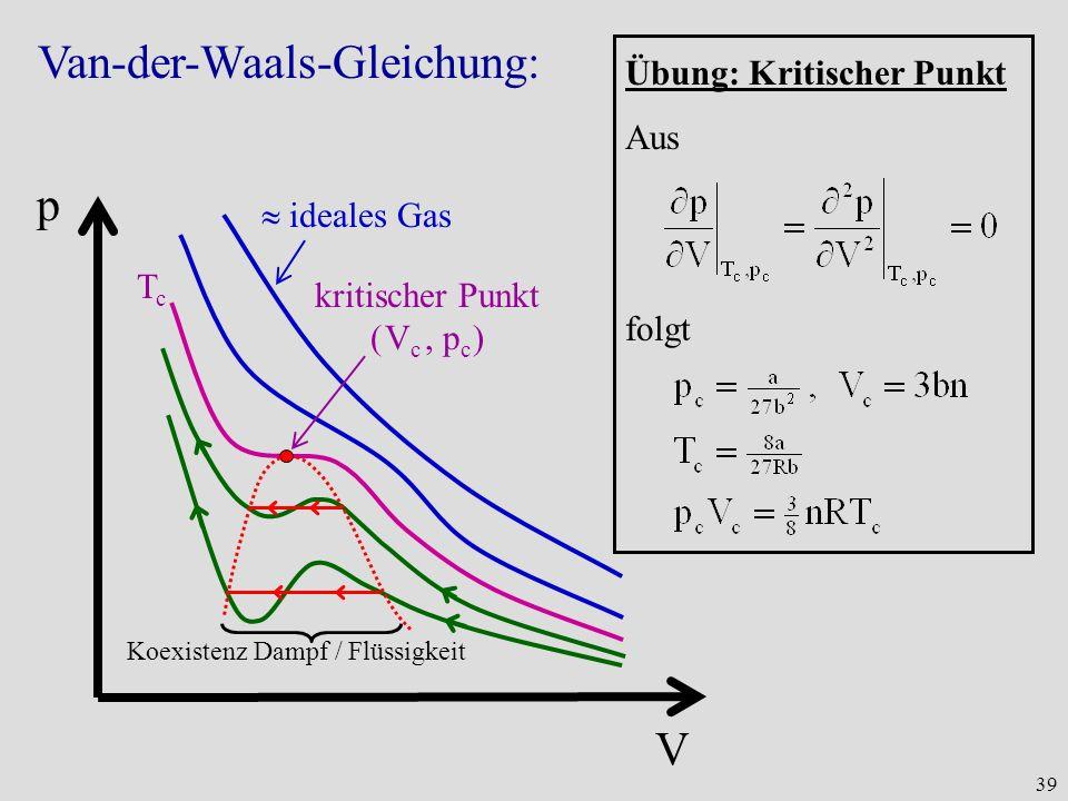 Van-der-Waals-Gleichung:
