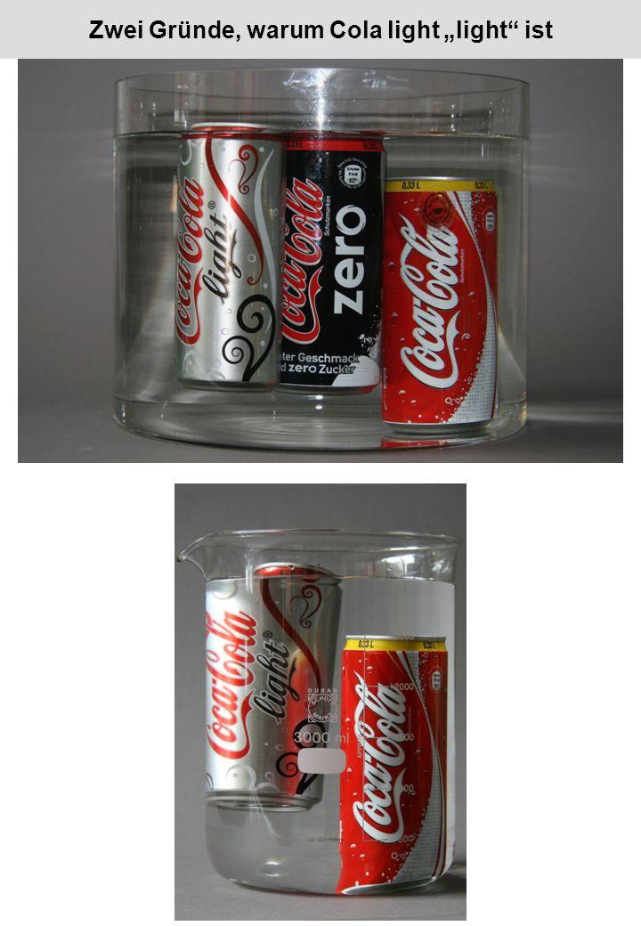 """Zwei Gründe, warum Cola light """"light ist"""